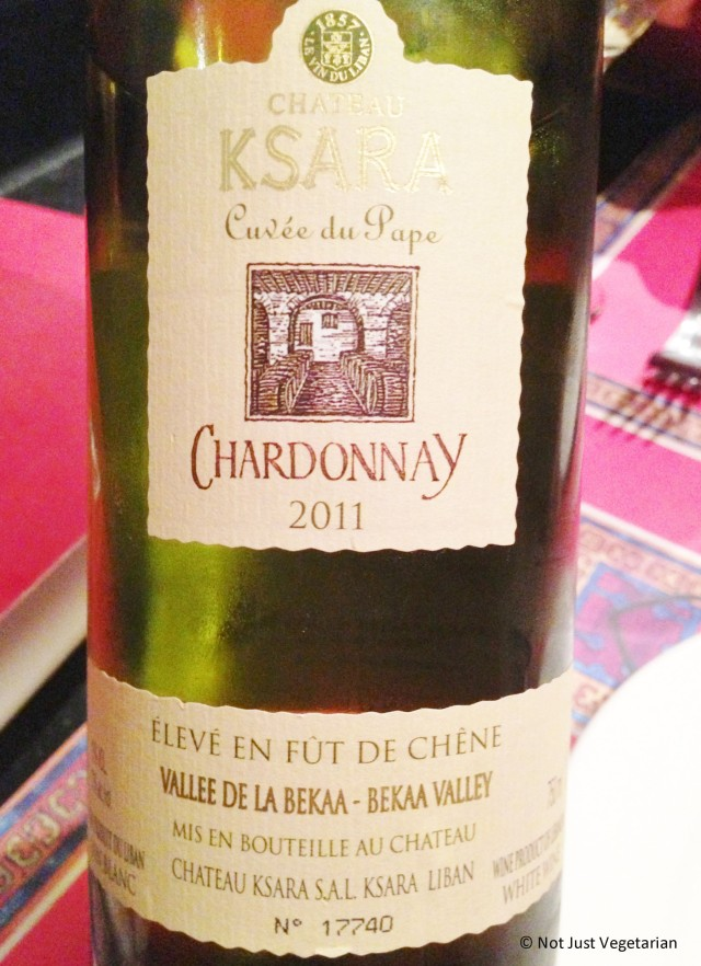 Chateau Ksara (Chardonnay) 2011 from Bekaa Valley served at Ranoush Juice in High Street Kensington in London