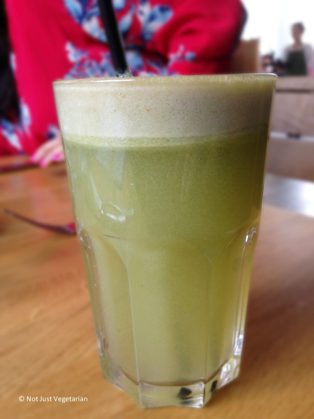 Cucumber, Apple and mint juice at Tom's Kitchen in Chelsea, London