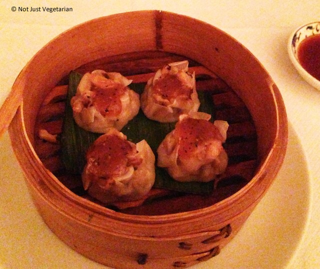Black Cod and prawn shumai with pepper miso at E & O in Notting Hill London