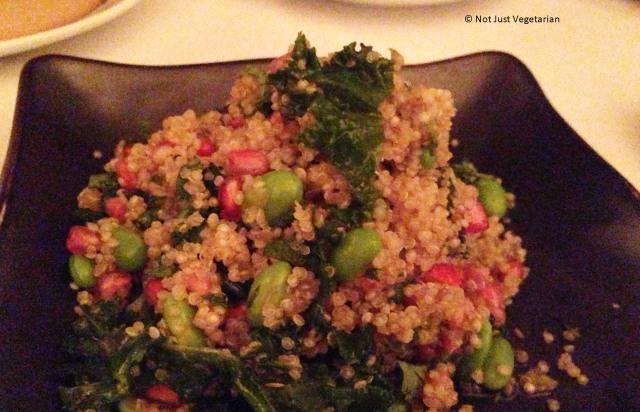 Quinoa, pomegranate and edamame salad at E & O in Notting Hill London