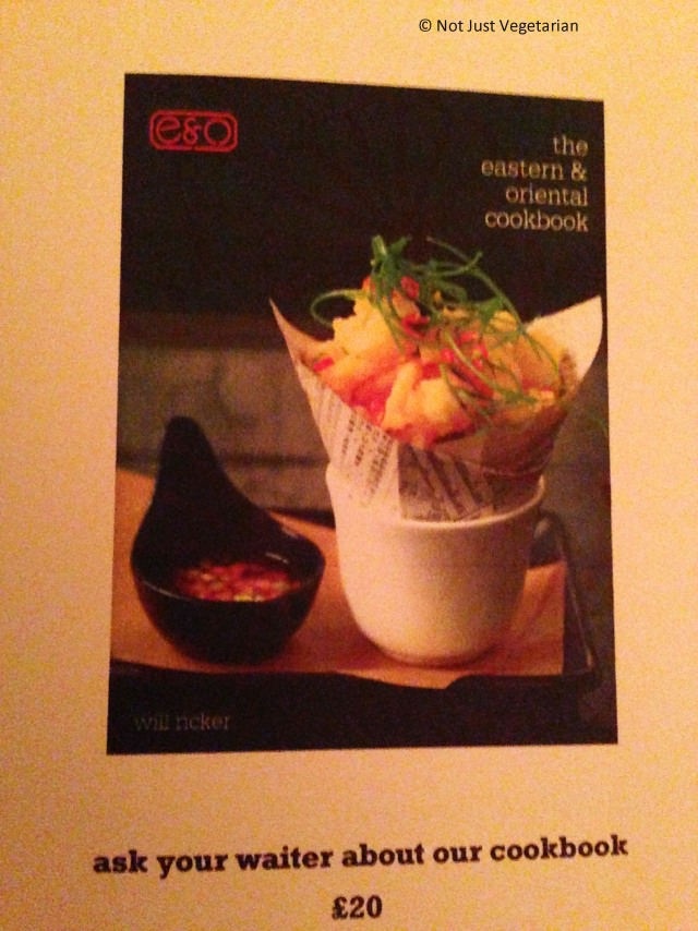 Eastern and Oriental (E & O) cook book at E & O in Notting Hill London