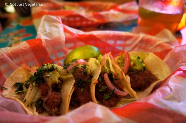 Beef Picadillo tacos at El Camion in Soho, London