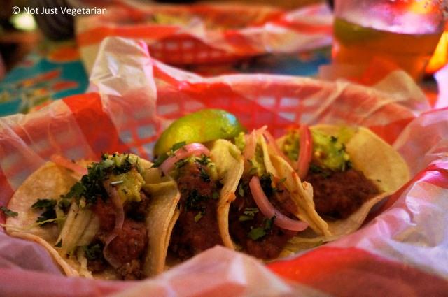 Beef Picadillo tacos at El Camion in Soho, London