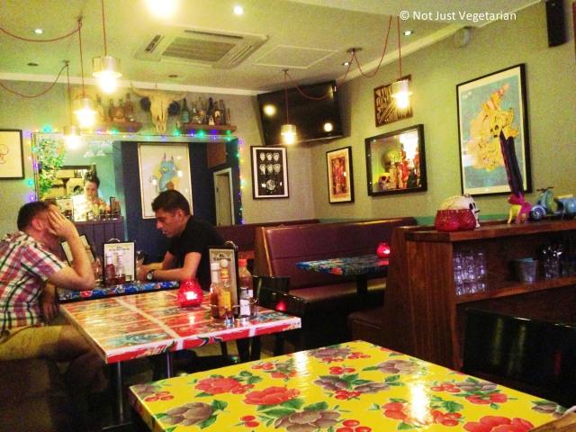 Inside El Camion Mexicano in Soho, London