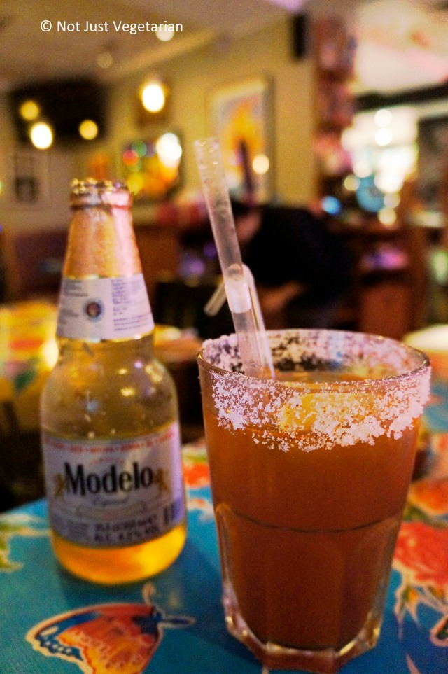 Michelada at El Camion Mexicano in Soho, London