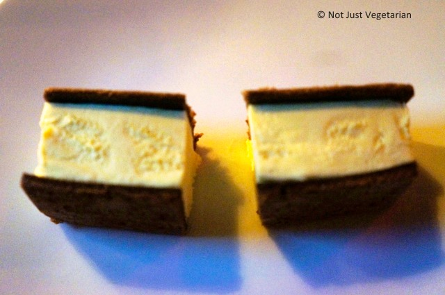 Fernet branca ice cream sandwich at Pearl & ASh NYC