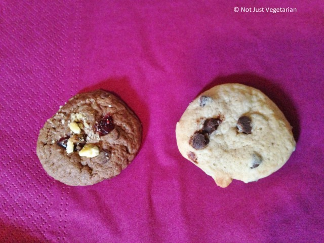 Vegan Cookies from Pipernilli; Mocha Diva Round on Left and Chocolate Jewel on Right