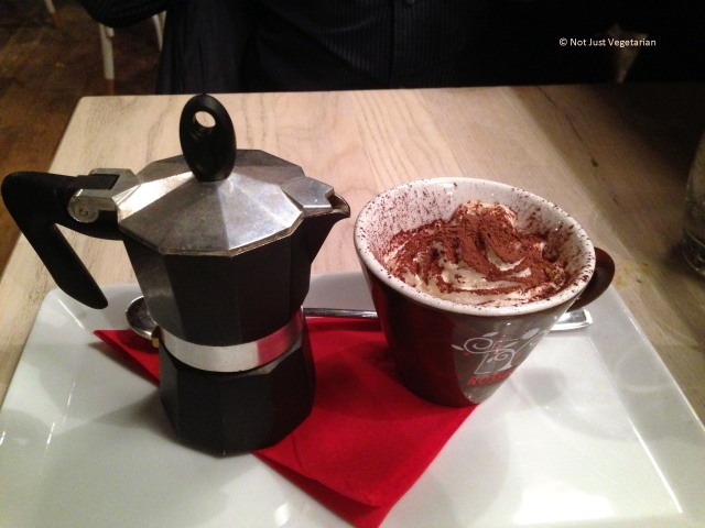 Affogato - Neapolitan espresso with ice cream and whipped cream - at Rossopomodoro on Fulham Road, London