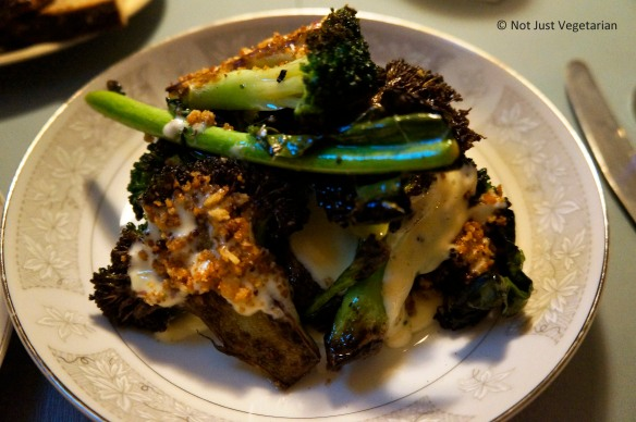 De Cicco Broccoli with green garlic and breadcrumbs at Skál in NYC