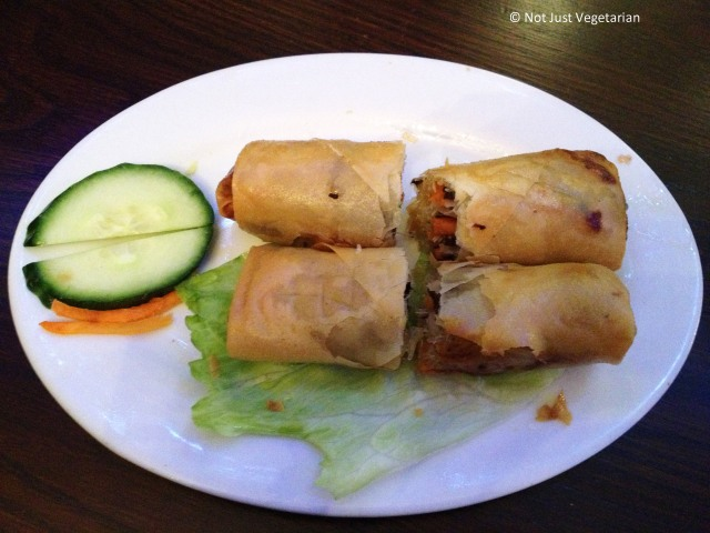 Vegetarian Spring Rolls at Com Viet in London