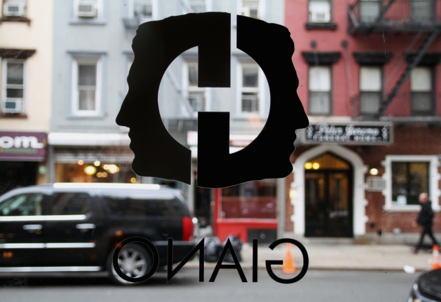Giano NYC's Logo of Janus - the two faced Roman God, Photo courtesy Giano restaurant