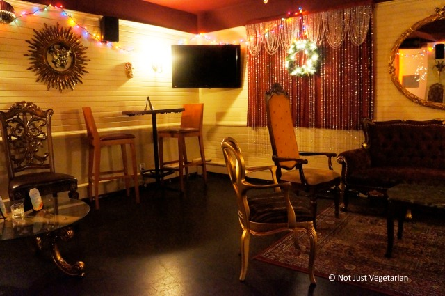 Private party room at Masq restaurant and lounge NYC