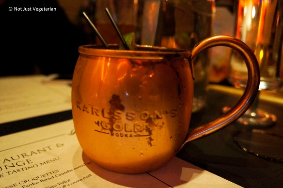 Moscow Mule at Masq restaurant and lounge NYC