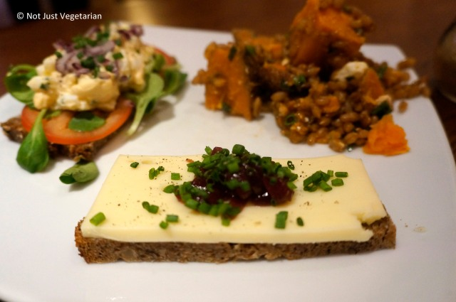 Mature cheddar with chutney at Scandinavian Kitchen in London