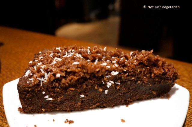 Swedish Love cake - choclate sponge cake with coffee and coconut icing at Scandinavian Kitchen in London
