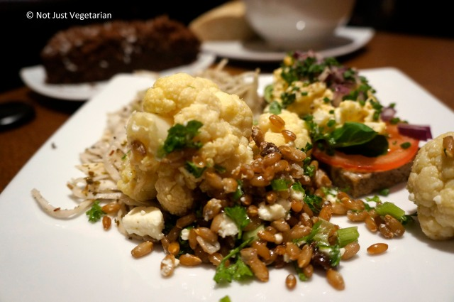 Cauliflower with wheatberries, cheese and herbs at Scandinavian Kitchen in London