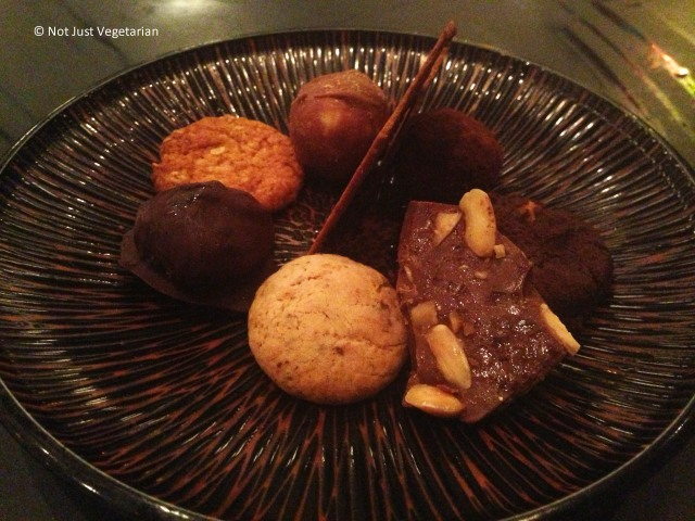 Assorted cookie and biscuit platter at Kopapa in London