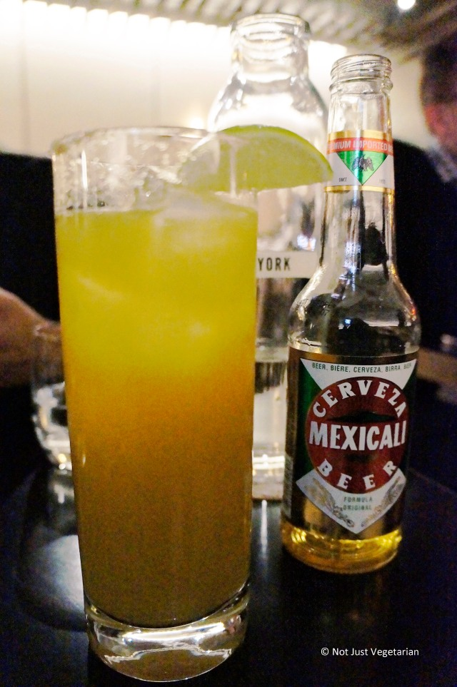 Pinchelada - Pineapple, Mexicali beer, chilies, and sansyo at Alder NYC