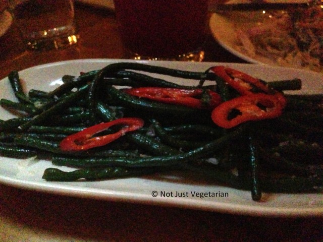 Chili salted Chinese Long Beans with mint and lime at Beauty & Essex in NYC