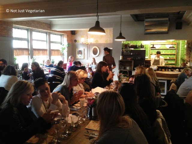 Inside Bumpkin, South Kensington in London