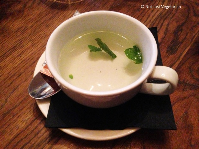 Mint tea at Bumpkin, South Kensington in London,