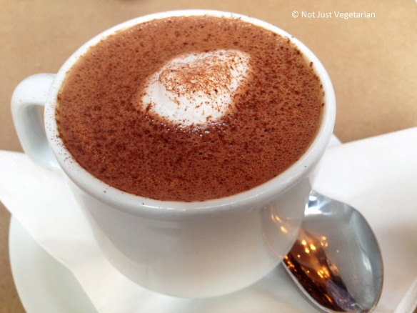 Hot chocolate (single source chocolate from Venezuela) at LA Burdick in NYC