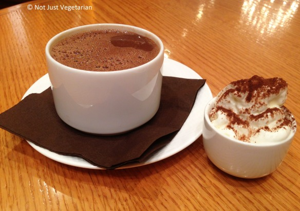 Rich, dark, hot chocolate at La Maison du Chocolat in NYC