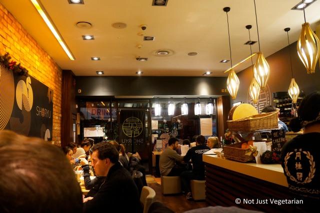 Inside Shoryu Ramen in London