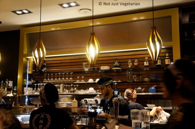 Bar at Shoryu Ramen in London