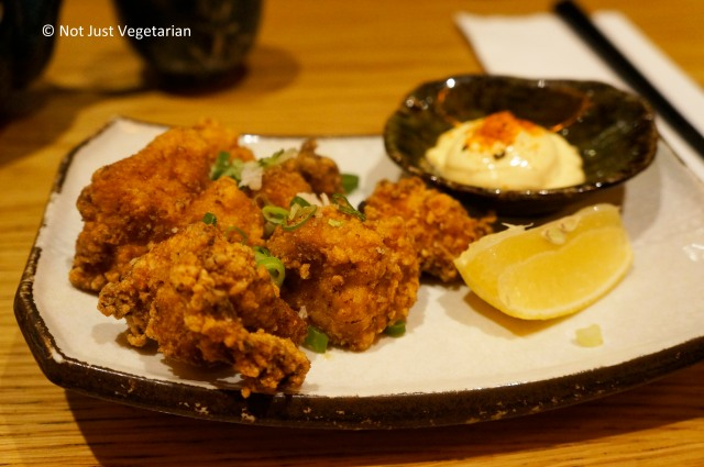 Kara-age (fried chicken) at Shoryu Ramen in London