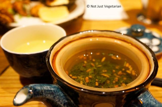 Genmai (roasted brown rice green) Tea  at Shoryu Ramen in London