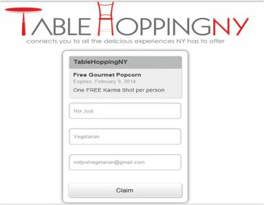 TableHoppingNY Pop Karma NYC coupon link