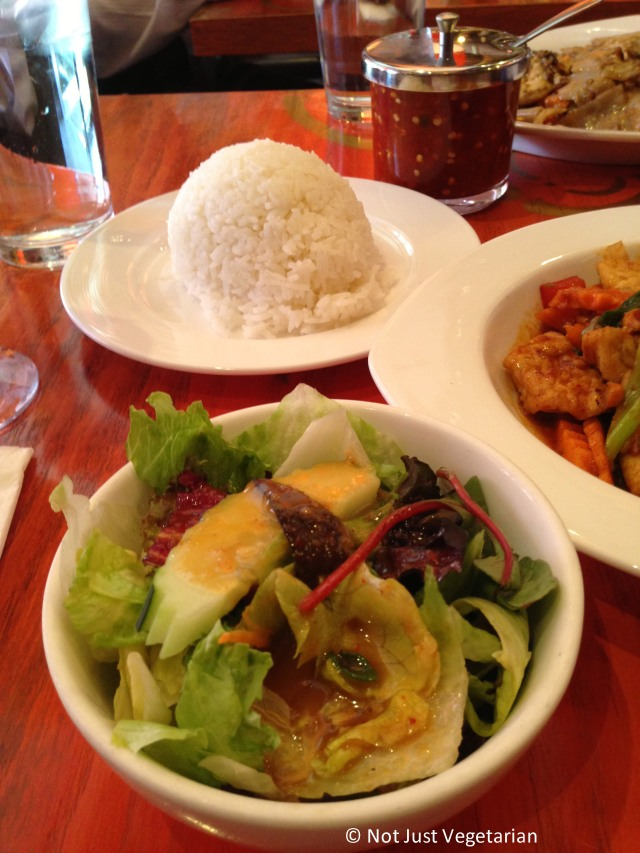 Small salad at Sky Thai in Jersey City, NJ