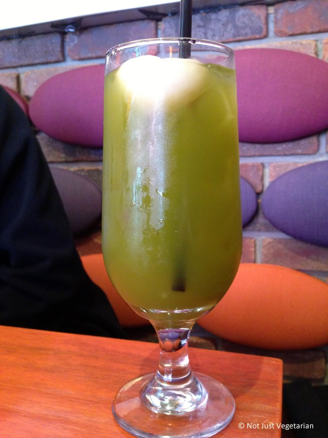 Iced Lychee Green Tea at Sky Thai in Jersey City, NJ