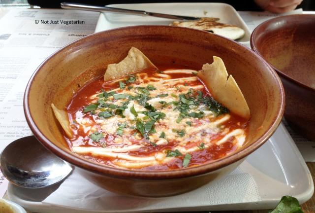 Tortilla soup at Wahaca in London