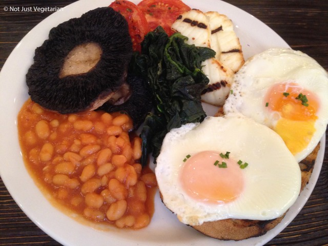 Vegetarian breakfast at Apero in London