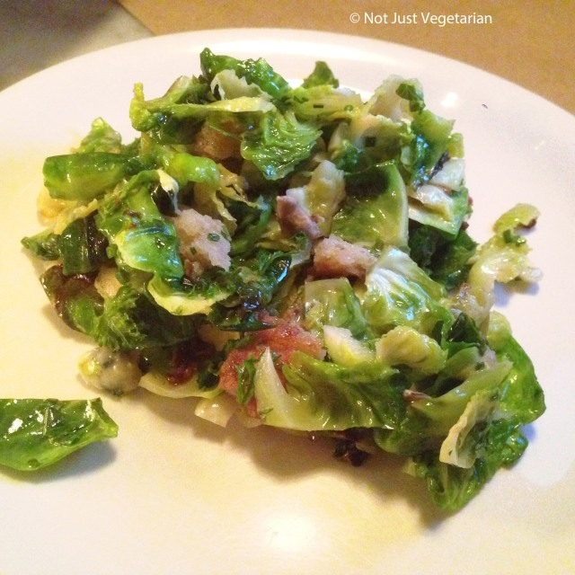 Side of Bussels Sprouts at Il Buco Alimentari e Vineria NYC