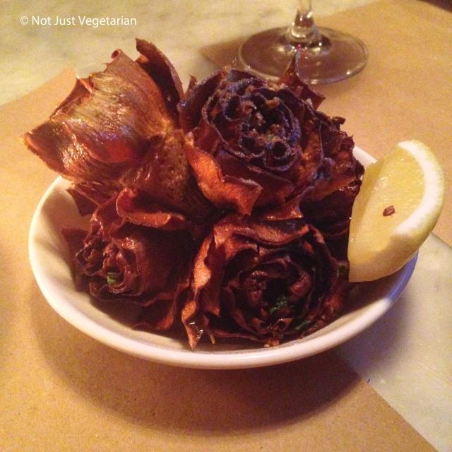 Crispy artichoke with preserved lemon at Il Buco Alimentari e Vineria NYC