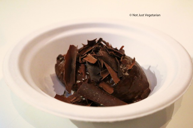 Peruvian Gold chocolate mousse by Hixter at Taste of London Winter 2014
