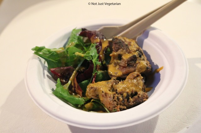Bhatti murgh (chicken tikka salad) by Benares at Taste of London Winter 2014