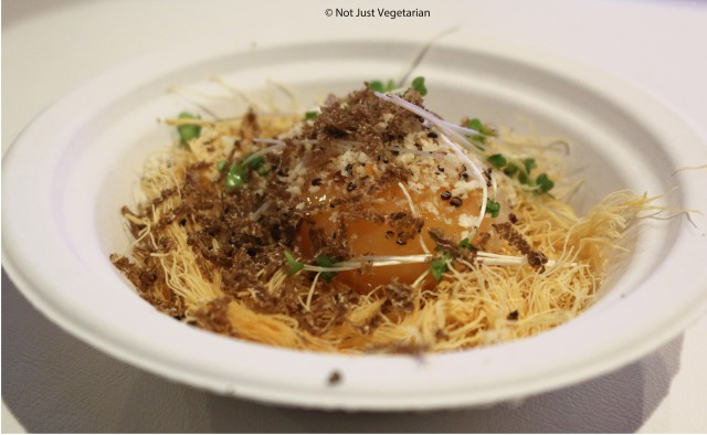 Truffled slow cooked egg by Club Gascon at Taste of London Winter 2014